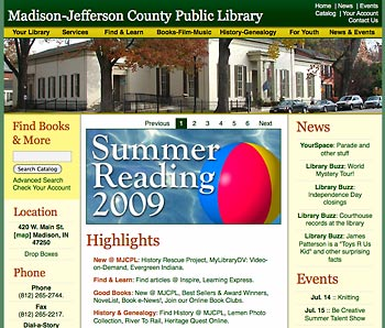 former Madison-Jefferson County Public Library website